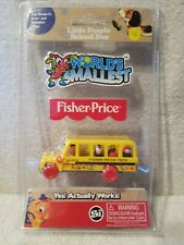 Worlds Smallest Fisher Price Little People School Bus Working Toy NEW IN PACKAGE