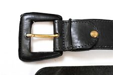 Stuti Made in ITALY Vintage Belt 80s Real Leather Ladies BLACK