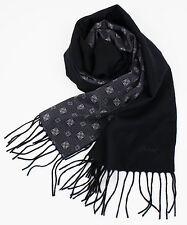 New In Box. BRIONI Men's Black Twill 100% Cashmere Double Face Scarf $1365
