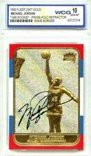 MICHAEL JORDAN 1998 REFRACTOR AUTOGRAPHED GEM MT 10 23KT GOLD 1986 ROOKIE CARD!