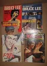 Vintage! Lot of 6 BRUCE LEE 李小龍 Magazine 1970's - 4 English & 2 Japanese version