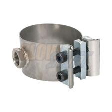 "GlowShift 2-1/4""-2-1/2"" Wideband O2 Sensor Bung Clamp Adapter - No Weld Design"