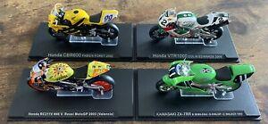 IXO 1:24 Honda CBR600, VTR1000, RC211V & Kawasaki ZX-7RR - Foret, Edwards, Rossi