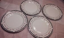 """Society Fine China Camille 4 Dinner Plates~1218~10 1/2"""" EXC COND."""