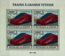 Italy NTV ALSTOM AGV ETR 575 EMU High Speed Train Stamp Sheet (2013 Burundi)