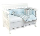 New Boppy Elephant Parade Organic Cotton Bedding Crib Nursery Duvet Set, Blue