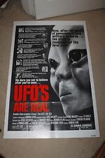Original Movie Poster UFO'S ARE REAL 1sh '79 X-Files type Conspiracy Documentary