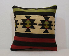 16''x16'' Anatolian Boho Vİntage Pillow Turkish Kilim Pillowcase Ethnic Cushion