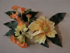 "Vintage Millinery Flower Collection 1 1/2 -4 1/2"" Yellow Apricot German H1897"