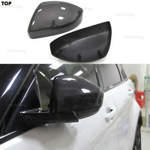 For Land Rover Range Rover Evoque & Jaguar F-Pace Carbon Mirror Caps Replacement