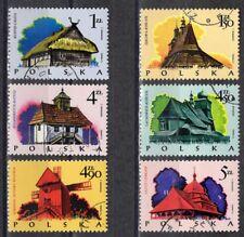 PL Polen 1974 Mi.-Nr. 2302 - 2307  Holzbaukunst gestempelt o