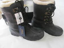 Polo Ralph Lauren Mens Longhirst Duck Toe Shearling Snow Boots Black Size 9