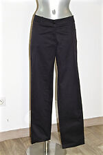 lujoso pantalones cigarrillos negro elástica MAX MARA WEEK DE MANGO talla 42 fr