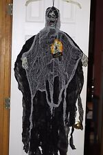 HALLOWEEN HANGING  ZOMBIE MONSTER POSEABLE ARMS EYE'S LIGHT UP NO BODY RARE!