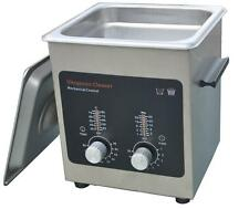 Ultrasonic Cleaner with Stainless Steel Tank, Heater/Timer, 2L/0.50 Gallon Tank