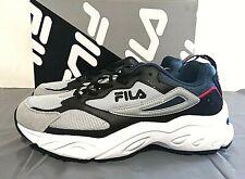 Fila Men's Recollector Running Hiking Shoes - PICK SIZE Grey/Black/Blue - 1E_16
