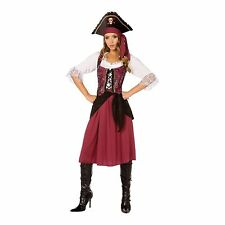 Pirate Wench Womens Fancy Dress Costume (Small 6-8)