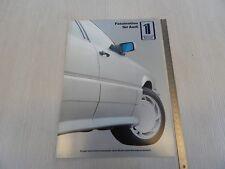 brochure depliant originale Treser Audi quattro roadster 5000 100 etc prospekt