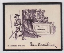 BADEN-POWELL SKETCH SCOUT BADGE, Historic St George's Day 1926 BP's drawing