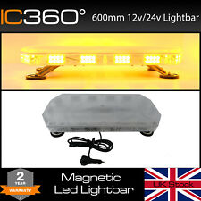 """600mm 60cm 24"""" Magnetic 56W LED Amber Light Bar Strobe Beacon Recovery Vehicles"""
