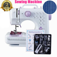 Electric Portable Sewing Machine Overlock Lightweight Mains Powered Foot Pedal