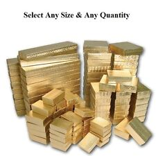 Cotton Filled Jewelry Boxes Gold Color Gift Boxes for Jewelry Lots 20~50~100~500