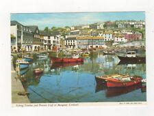 Fishing Trawlers & Pleasure Craft At Mevagissey Cornwall Postcard 732a