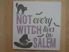 Shabby Halloween Witch Salem plaque/sign, chic and unique