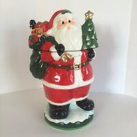 David's Cookies Santa Claus Ceramic Cookie Jar Christmas Holiday-Open Box