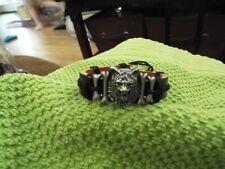 Leather Surfer Bracelet Werewolf Charm Men/Women'S