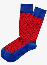 NWT EXPRESS MEN'S Wrench Print Dress Socks EASTERN RED 2072 296