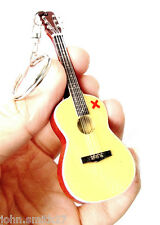 "Ed Sheeran X Acoustic Signature 4"" Miniature Guitar Fridge Magnet &  Keychain"