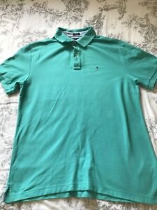 Tommy Hilfiger polo shirt xl Short Sleeve Turquoise