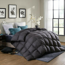"Twin68x90"" Goose Down Comforter Grey 700FillPower 50oz/350gsm Thick Warm Winter"