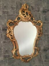 Antique Baroque Wall Mirror Oval IN Gold 50x76 CM Decoration