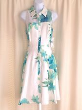 Robbie Bee Floral Spring Sleeveless Shirtdress Nwt Size 8