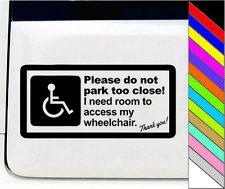Wheelchair Men Disabled Handicap Warm Tips Vinyl Car Decal Sticker Waterproof