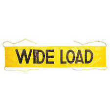 JJ KELLER 3732 - Mesh Wide Load Banner w/ Ropes Sewn In 7' x 18