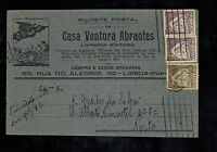 1931 Lisbon Portugal Postcard Cover to Porto Bookstore New Years Eve cancel