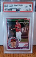 2018 Topps Silver Pack Mike Trout 1983 Chrome Promo #2 GEM MT 10