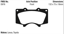 EBC Yellowstuff Brake Pad Set Front for 03-07 Sequoia / 00-06 Tundra # DP41657R