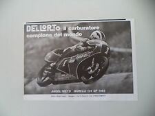 advertising Pubblicità 1984 ANGEL NIETO e GARELLI 125 GP '83