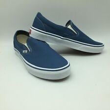 """Vans Men/Women's Shoes ''Classic Slip-On"""" Navy"""