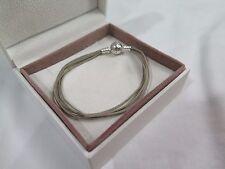 New Pandora Khaki LARGE  Multi Strand Cord Bracelet 590715CHK M3 Gift set opt
