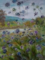 ORIGINAL,SIGNED IMPRESSIONISM. Scabius, River Ure.Yorkshire Dales.OIL PAINTING