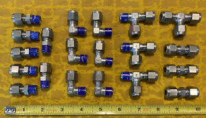 Swagelok Lot of 20 SS Connectors