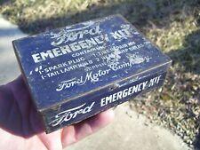 New ListingOriginal Ford motor co. Emergency kit tin box can tool auto vintage bulb plugs