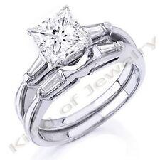 Gorgeous 1.52 Ct. Princess Cut Diamond Bridal Set