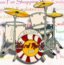 HRC Hard Rock Cafe Detroit White Stripes Drum Set Kit 2004 Pin LE NEW