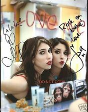 "The Veronicas band Reprint Signed 8x10"" Photo #2 RP Lisa & Jessica Origliasso"